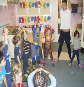 Yogabugs at Acol Nursery, one of three nurseries run by Camden Community Nurseries